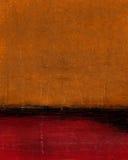 Art Painting abstracto anaranjado y rojo Fotos de archivo