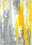 Art Painting abstracto gris y amarillo Imagen de archivo libre de regalías