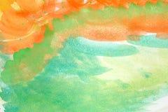 Art Painting astratto blu e porpora Immagine Stock