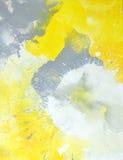Art Painting astratto grigio e giallo Immagini Stock
