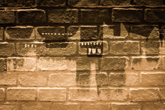 Art painting on brick wall Stock Photo