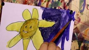 Art painting stock footage