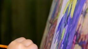 Art painting stock video footage