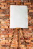 Art painting leisure draw hobby blank canvas easel. Art painting leisure. drawing hobby. blank canvas or watercolor paper on easel. empty space for advertisement royalty free stock images