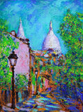 Art painting of the Montmartre Royalty Free Stock Photography