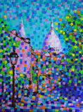 Art painting of the Paris Royalty Free Stock Image