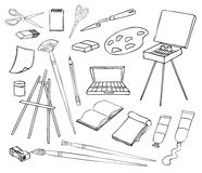 Art and painting set Royalty Free Stock Photos