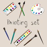 Art painting set Stock Images