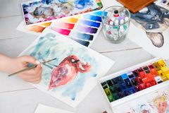 Art painting skill color swatch watercolor drawing stock photography