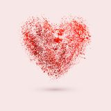 Art paints red heart, vector illustration Royalty Free Stock Images