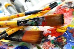 Art palette Stock Photography