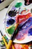 Art palette Stock Photo