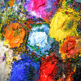 Art palette background Stock Image