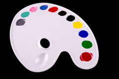 Art palette with blobs of paint. See my other works in portfolio Stock Image
