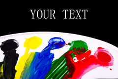 Art palette with blobs of paint. See my other works in portfolio Royalty Free Stock Images
