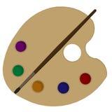 Art Palette Illustrations Stock Image