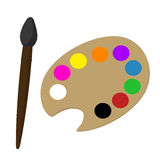 Art Palette Illustrations Royalty Free Stock Images