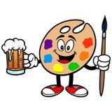 Art Palette met Bier stock illustratie