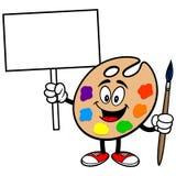 Art Palette met Teken stock illustratie