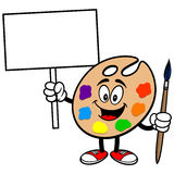 Art Palette with Sign Stock Image