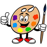 Art Palette with Thumbs Up Stock Photos
