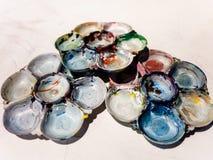 Art palettes Royalty Free Stock Image