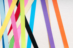 Art paper background with colourful stripes Royalty Free Stock Images