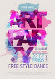 Art party poster Royalty Free Stock Image