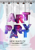 Art party poster Royalty Free Stock Images