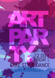 Art party poster Stock Images