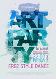 Art party poster Royalty Free Stock Photography