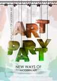 Art party poster Stock Photos