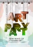 Art party poster Stock Photos