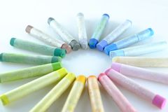 Art pastel palette Stock Photos