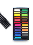 Art pastels, charcoal pencils Stock Images