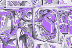 Art pattern. Pattern designed using 3D modeled and rendered Royalty Free Stock Photography