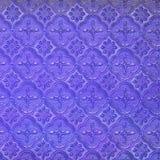 Art pattern on blue wall Stock Photo