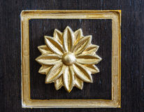 Wood carving. Art pattern on the door of wardrobe Royalty Free Stock Images
