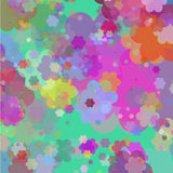 Art pattern with flowers Royalty Free Stock Photography