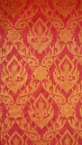 Art pattern. On red background as wallpaper Stock Images