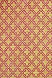 Art pattern stucco gold red temple background Stock Photos