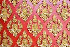 Art pattern of Temple wall Stock Photo
