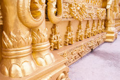 Art pattern thai golden temple. This is art pattern thai golden temple.this place is in east of thailand Royalty Free Stock Photo