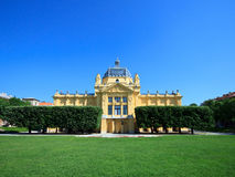 Art pavilion building in Zagreb, Croatia Royalty Free Stock Photos