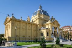 Art Pavilion (Umjetnicki Paviljon) Zagreb stock foto