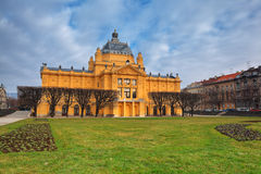 Art pavilion in Zagreb Royalty Free Stock Photos