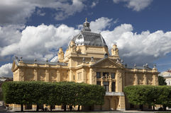 Art pavilion in zagreb. Beautiful view of art pavilion in zagreb - the oldest exhibition hall in croatia royalty free stock photos