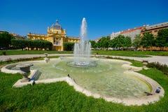 Art Pavilion, Zagreb, Croacia foto de archivo libre de regalías