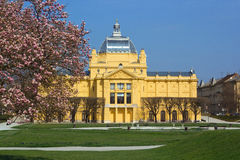 Art Pavilion in Zagreb, Croatia royalty free stock photo