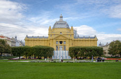 The Art Pavilion in Zagreb Royalty Free Stock Images
